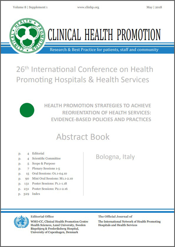 Abstract Book 2018, Frontpage