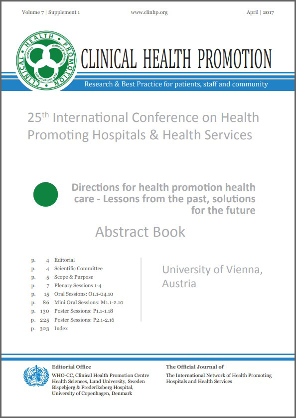 Abstract Book 2017, Frontpage